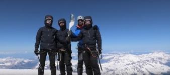 Flacara Pacii a stralucit pe Mont Blanc